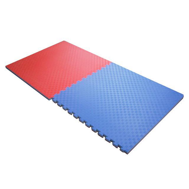 TATAMI PUZZLE podložka oboustranná 100x100x3 cm červeno-modrá