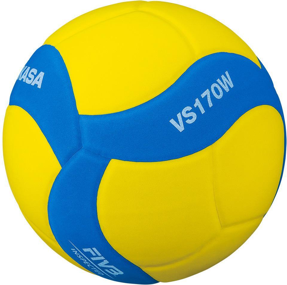Míč volejbalový MIKASA VS170W žluto-modrá