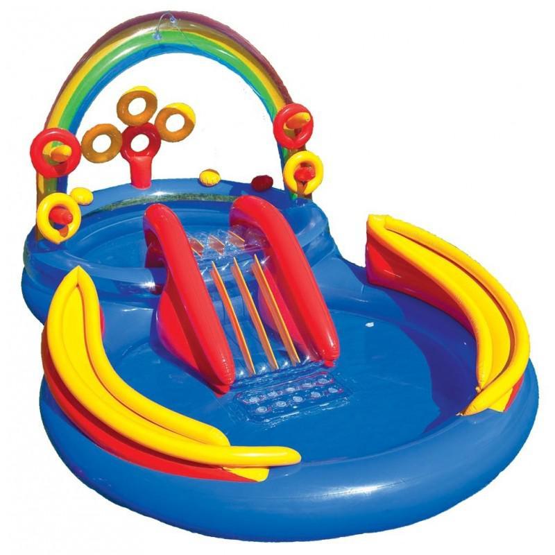 Nafukovací Bazén Intex 57453 Duha Play Centrum 297 X 193 X