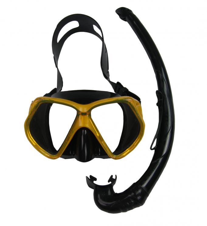 Potápěčský SET OASIS SILICON 11748-žlutá