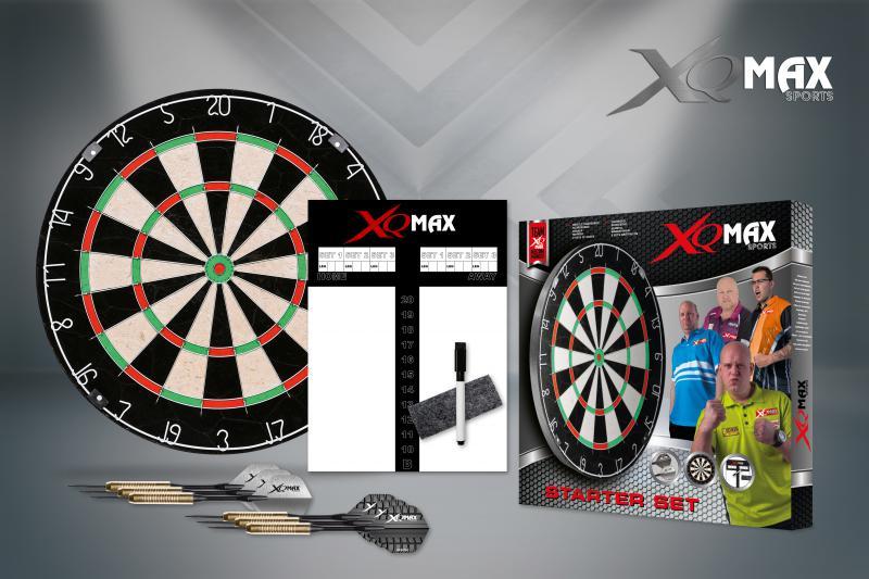 Šipky s terčem XQ MAX Dartboard STARTER SET EUROPE 46 cm