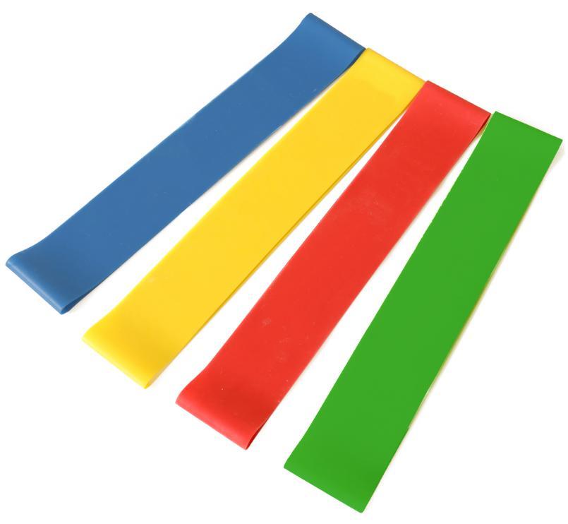 Odporová posilovací / aerobic gumy SET 4 KS - SEDCO