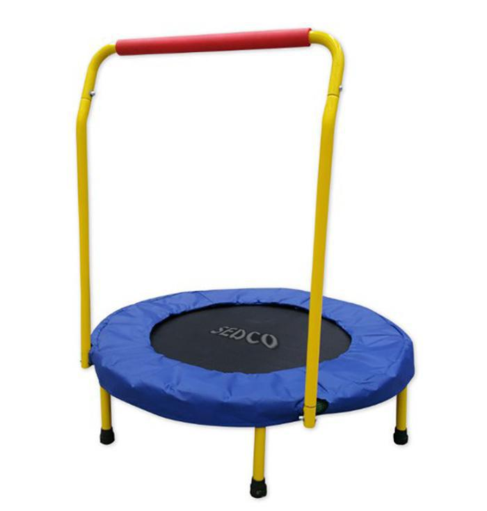 Dětská trampolína SEDCO s madlem 5042 modrá