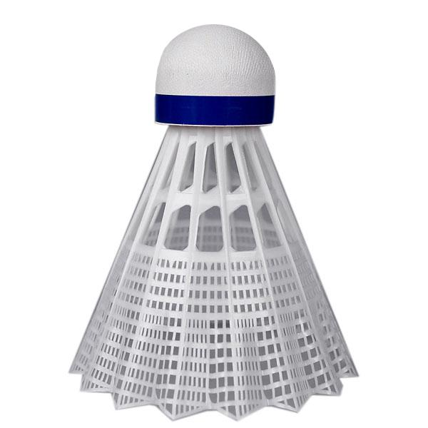 Míček badminton profi - nylon modrý-sada6ks