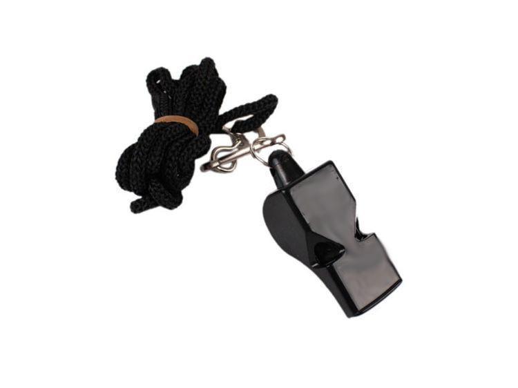Píšťalka PROFI WOLF se šňůrkou-černá