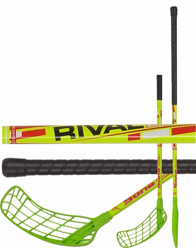 Florbalová hůl Sona Rival 95cm levá zelená/žlutá
