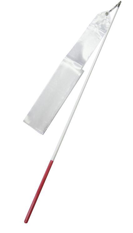 Gymnastická stuha + tyčka - bílá