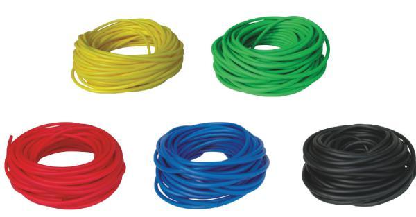 BAND TUBING - Odporová posilovací guma - LATEX FREE - 1 m-zelená