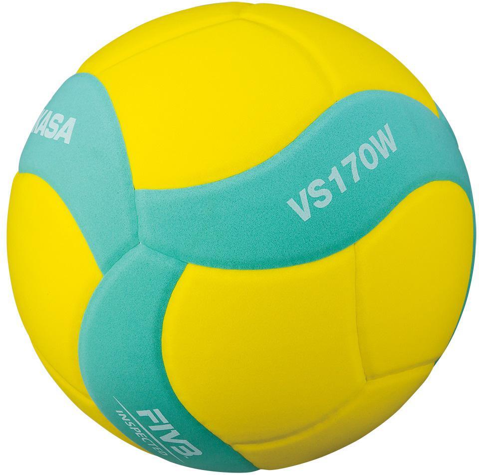Míč volejbalový MIKASA VS170W žluto-tyrkysová