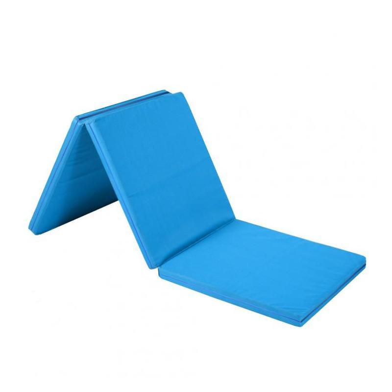 Žíněnka skládací třídílná SEDCO 180x90x5 cm-modrá