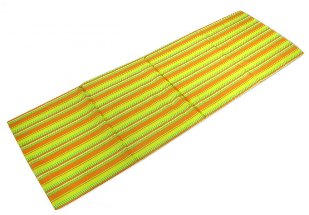 Čtyřdílné skládací plážové lehátko Sedco STRIPES oranžová